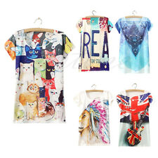 Women's Lovely Sleeveless Graphic Printed Tee T Shirt Blouse Vest Tank Tops