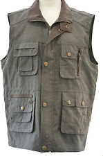 Mens Poachers Hunters Hunting Fishing Country Gilet Gillet Waistcoat Suede Feel!