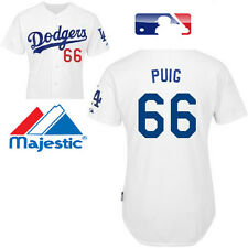 == MLB Official Licensed == Majestic Yasiel Puig 66 Los Angeles Dodgers Jersey