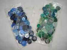 Buttons, 50 grams, assorted sets, blues or greens