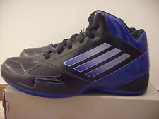 @NEW@ ADIDAS TEAM FEATHER 2012  BASKETBALL SHOES BLACK/BLUE G56837  US 8.5