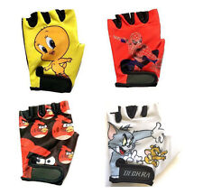 Deckra Kids Cycling Gloves Cartoon Character Printed Childrens Child Gloves