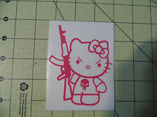 Hello Kitty with an AR-15 - Decal  AR-15 Guns 2ND- AMENDMENT