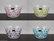 4 x Dimple Salad Bowls  in Pink Purple Yellow Blue Funky Wholesale Bulk Lot