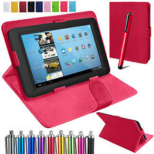 """Universal PU Leather Stand Folio Case Cover Pouch For All 8"""" Inch Tablets Tab"""