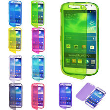 Clear Flip TPU Skin Gel Silicone Case Cover For Samsung Galaxy S2/3/4/5/Note2/3