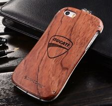 New Wood + Aluminum Metal Bumper Case Wooden Case Cover For iPhone 5 5S