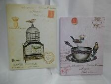 PARIS BIRDCAGE OR CUP CANVAS PRINTS, SHABBY FRENCH COUNTRY DECOR