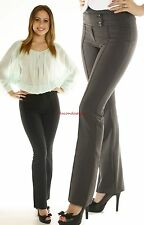 Pintuck Stylish Pants Womens Dressy Straight Trousers Flare Work Office Career