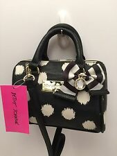 Betsey Johnson *Mini* Crossbody Bag ~ Ikat Dot-Cabbage Floral~ Tote Purse *New