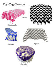 High Quality ZIG ZAG - CHEVRON Table Linens for Wedding, Banquet, Baby Shower,