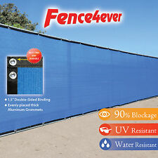Blue 5'x50' 5ft Fence Privacy Screen Windscreen Shade Cover Mesh Fabric Pool