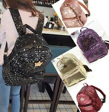 Hot Womens Fashion Sequins Backpack  Ladies Girls Leisure School Bag Campus