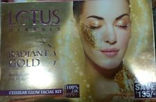 NEW LOTUS RADIANT GOLD CELLULAR GLOW FACIAL KIT WITH DEEP-CELL ACTIVATION SYSTEM