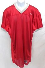College Authentic Blank Football Jersey Red Gray Trim and Red Spandex sides