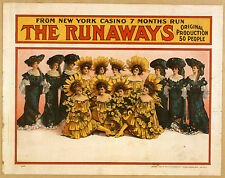 Photo Print Vintage Poster: Stage Theatre Flyer Musical Comedy The Runaways 01