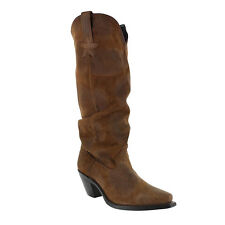 "NIB!! Dingo Womens MUSE 15"" Snip Toe Slouch Western Boots Brown Leather DI7572"