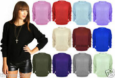 WOMENS LADIES  OVERSIZED BAGGY JUMPER KNITTED SWEATER CHUNKY CARDIGAN PLUS SIZE