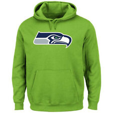 NFL Seattle Seahawks Neon Green Signature Logo Pullover Hoodie Jacket
