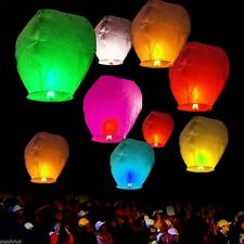 Sky Lanterns Chinese Paper Sky Fire Candle Wish Wedding Flying Party Lamp Mixed