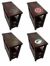 FC902 NEW THEMED LOGO ESPRESSO CAPPUCCINO WOOD ACCENT SIDE END TABLE NIGHTSTAND