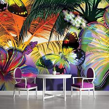 PHOTO WALL MURAL WALLPAPER WALLCOVERING HOME DECOR COLORFUL BUTTERFLIES 175VE