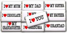 *PERSONALISED I LOVE YOU CHOCOLATE BAR GIFT GREAT IDEA FOR BIRTHDAY PRESENT ETC*