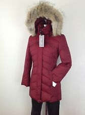 Andrew Marc NewWT Burgundy Slimming Coyote Fur Hooded Hypoallergenic Down Jacket