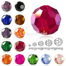 72Pcs 10mm Round Facted Cut Loose Crystal Glass Spacer Beads Charms Wholesale