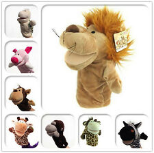 Hot Collections Child Kids Chic Plush Velour Animals Hand Puppets Aid Toy UK JC