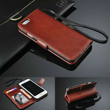 Photo Luxury Flip PU Leather Slot Credit Card Stand Cover Wallet Case For iPhone