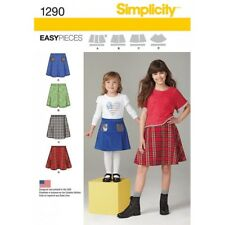 Child's and Girls' Set of Skirts Simplicity Sewing Patterns 1290