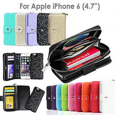iPhone 6 Case for Apple Magnet magnetic Zip Leather Flip Cover Card Coins Wallet