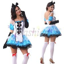 Sexy Halloween Women Alice in Wonderland Fancy Dress Costume Cosplay Maid Outfit