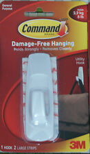 3M Command Large Utility Hook 2 Strips Bathroom Kitchen Tea Towel Damage Free