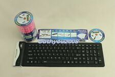 107 Keys USB portable keyboard silicone waterproof foldable flexible keyboard