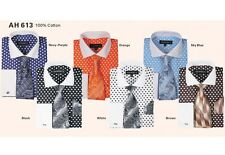 Men's dress shirt with tie and hanky, Polka Dot design by Georges' Style AH613