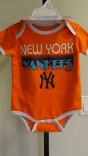 NWT MLB New York Yankees Infant 3-Piece Creeper Set: Sizes 0/3, 3/6 & 6/9 mons