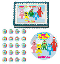 YO GABBA GABBA Edible Birthday Party Cake Topper Cupcake Image Decoration