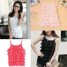 New Women Summer Casual Lace Sleeveless Vest Loose Shirt Tops Blouse Ladies Top