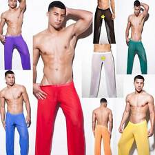 New Style Mesh Sexy Men's Long Johns Thermal Silk Underwear Clothing Pants US HG