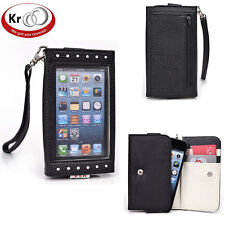 Kroo Clutch Purse with See Thru Screen for Apple iPhones 5 5s 5C 4S 4