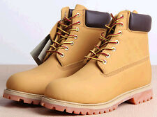 New Fashion Korean Mens Combat Army Lace Up Shoes High Top Ankle Boots Plus Size