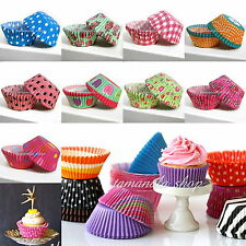 100Pcs Wedding Paper Cupcake Cases Wrapper Liner Baking Muffin Kitchen Party DIY