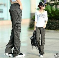 Sneakers Women Military Army Fashion Cargo Pocket Pants Leisure Trousers Outdoor