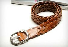 New Men's casual leather braided design simple black and brown belt QW