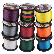 1000M/1093yds 12 Colors 6LB-100LB Super Strong Dyneema Braided Sea Fishing Line