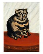 """HENRI 'LE DOUANIER' ROUSSEAU """"Tabby"""" Cat print NEW choose SIZE, from 55cm up"""