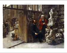 "Louis Robert Carrier-Belleuse ""The Studio of the Sculptor"" NEW CANVAS PRINT"