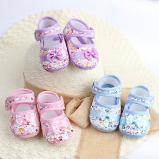 Size 4-6 Baby Kids Shoes Flower Printed Toddler Infants Bowknot Shoes Prewalker